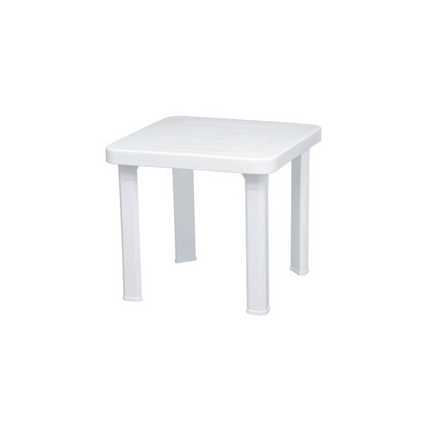 Table blanche carree maison design for Table blanche carree